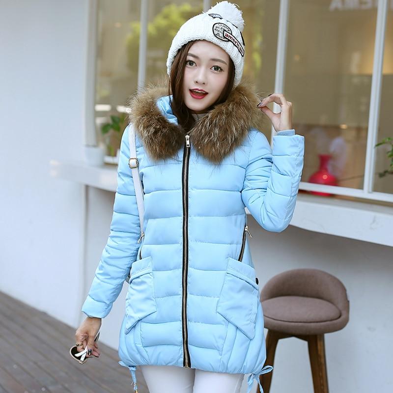 ФОТО Plus Size M-3XL Winter Down Cotton Jackets Women Fashion Artificial Fur Collar Parka Padded Slim Hooded Coat Women Coats Snowear