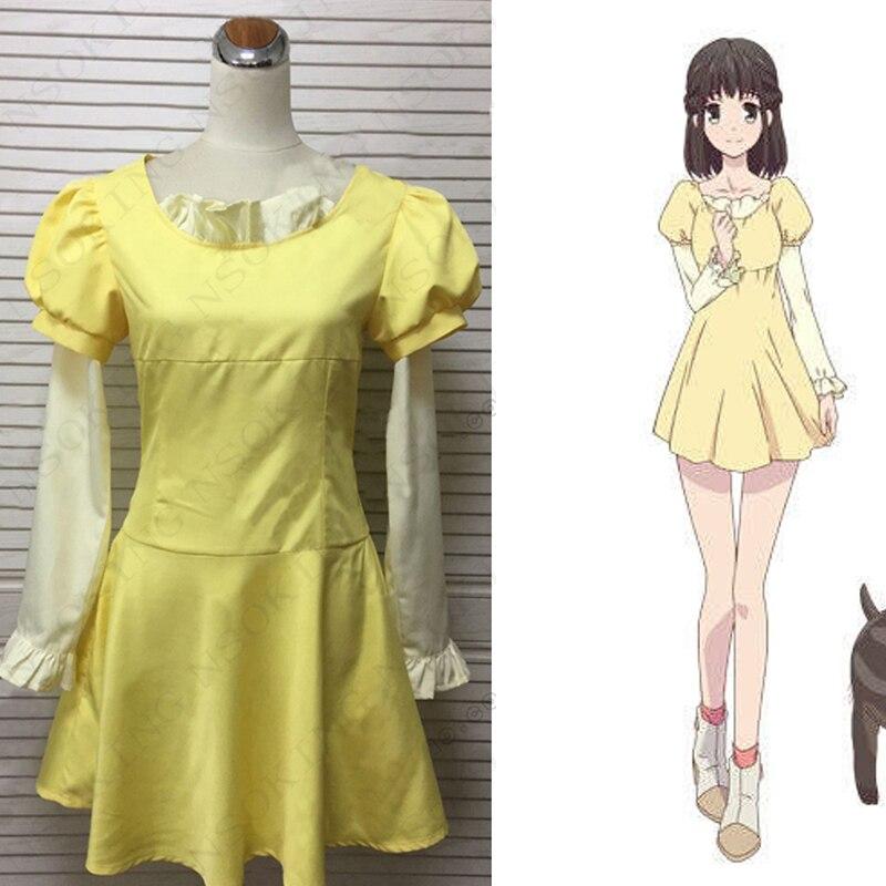 Anime Fruits Basket Kagura Sohma dress Cosplay  Costume custom made
