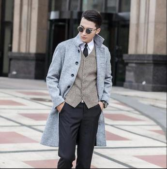 Black grey casual long sleeve wool coat men jackets and coats mens slim wool overcoats winter trench coats outerwear S – 9XL