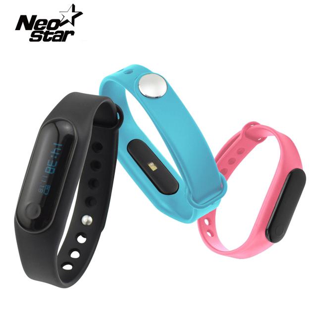 Smartband pulseira inteligente pulseira bluetooth 4.0 oled relógio de fitness monitor de freqüência cardíaca de controle de toque para samsung ios