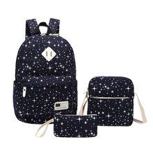 3 шт./компл. корейский Повседневное Для женщин Рюкзаки холст книга Сумки элегантный дизайн Школьные сумки для подростков Обувь для девочек Винтаж стильная женская сумка