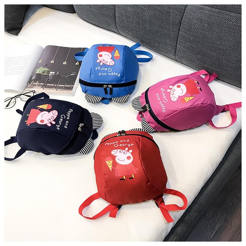 New Peppa Pig Little Girl George Plush Toy Child Boy Kawaii Kindergarten Backpack Wallet Bag