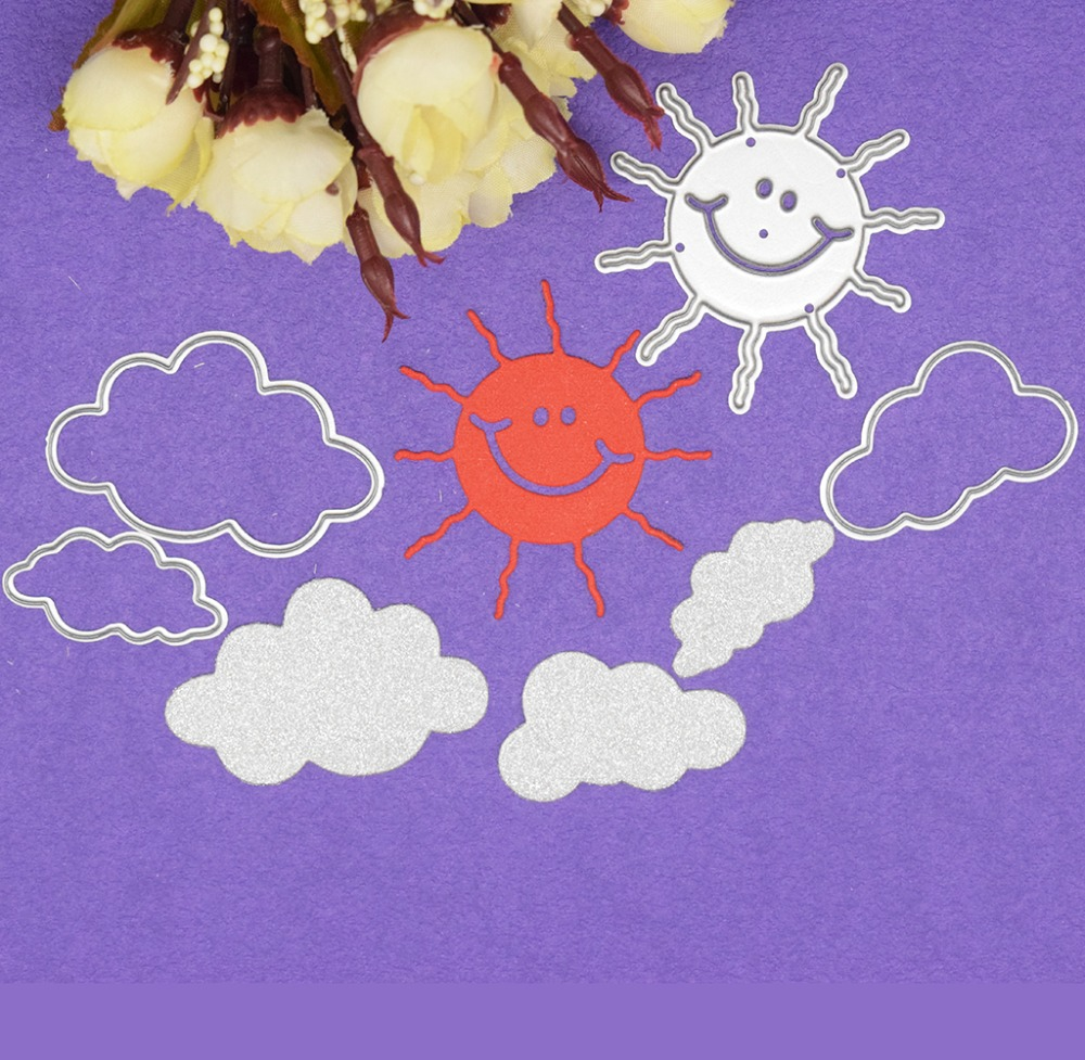 Sunshine Cloud Weather Metal Cutting Dies DIY Scrapbooking Card Decoration Embossing Sunny Day Craft