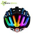 Rockbros MTB Ciclismo de carretera casco mujeres hombres moldeado integralmente ultraligero en molde del casco de ciclista con luz trasera 6 color Ciclismo