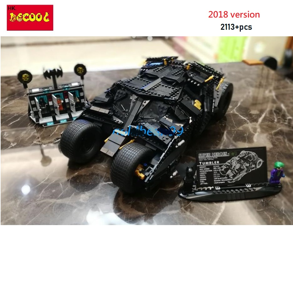 Decool 2018 7111 2113pcs Super Heroes The Tumbler + Prison TOYs Gift for LEGO for Batman 76023 for lepin technic 34005 batman