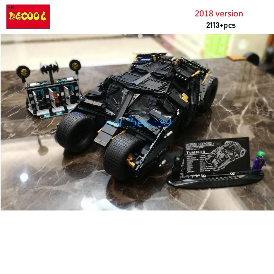 цена на Decool 2018 7111 2113pcs The Tumbler + Prison Building Blocks Toys Gift for LEGO Batman 76023 for lepin Super Heroes 34005