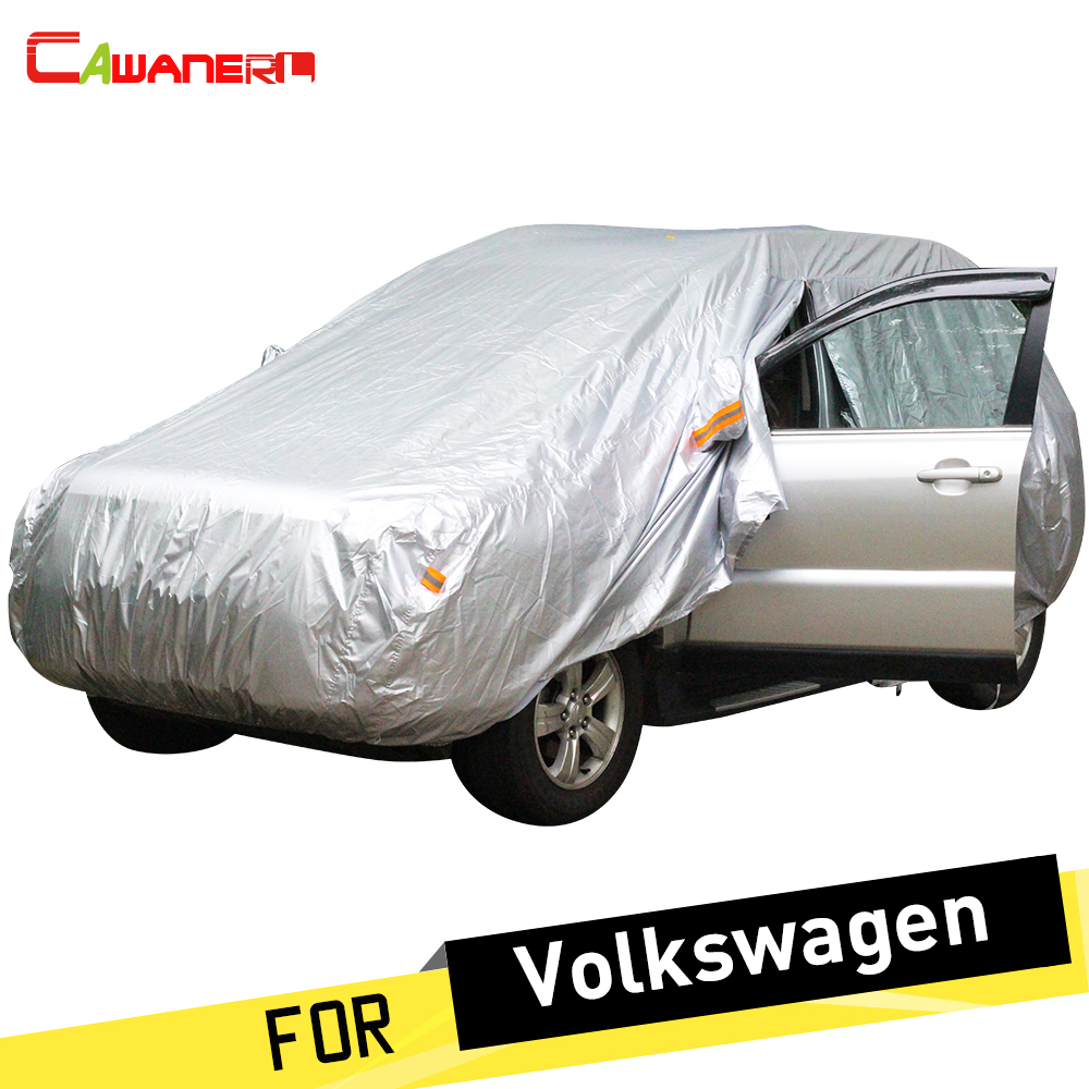 Cawanerl Full Car Cover Sun Anti UV Snow Rain Protection Dust Proof Car Covers Fit For VW Volkswagen Magotan Passat CC Alltrack