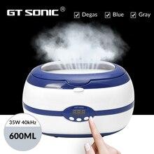 GT SONIC 600ml אולטרה sonic מנקה אמבט טיימר תכשיטי מברשת משקפיים מניקור אבנים Cutters שיניים תער חלקי אולטרסאונד Sonic