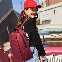 DANJUE WoMen backpack High Quality Oxford School backpack For Teenagers 15inch Laptop Bag Large Capacity Travel Bag FeMen