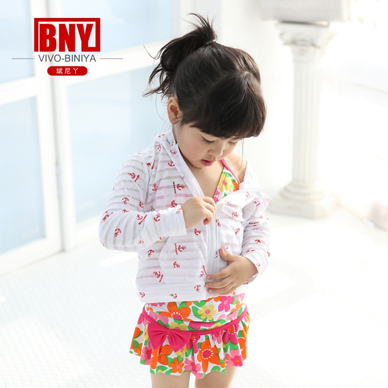 aa8ea727d7231 child's hoody one piece long sleeve cotton print sunscreen coat bench cloth  Rash Guard UV Sun Protection UPF50+ small big size-in Children's One-Piece  Suits ...