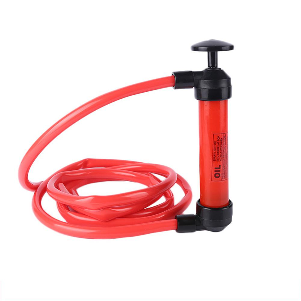 Portable Car Manual Oil Pump Siphon Sucker Hand Oil Pumping for Oil Liquid Chemicals Transfer with Gas Inflating Function