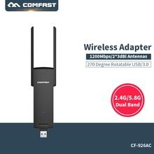 Dual band wireless usb wi-fi Бесплатно драйвер wi-fi Адаптер, 1200 М антенна wi-fi 2.4 ГГц + 5 ГГц Wi-Fi адаптер Сетевой Карты 802.11b/g/n/ac
