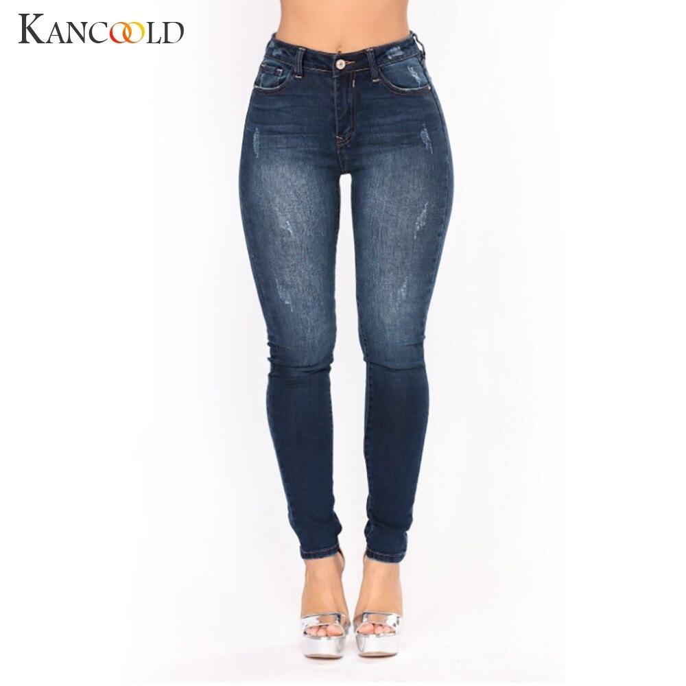 KANCOOLD jeans Fashion Women Denim Female High Waist Jeans Stretch Slim Sexy Pencil Pants Vintage jeans woman 2018Oct26