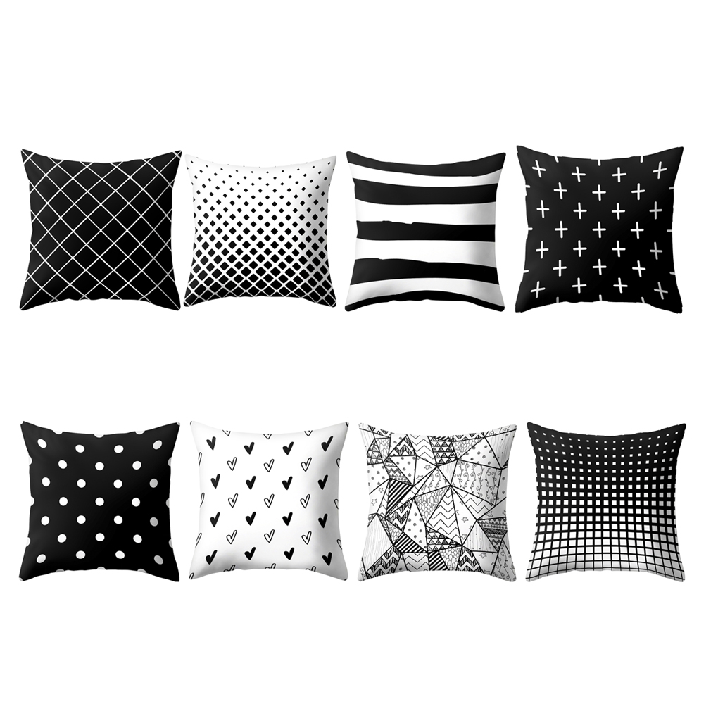 Feiqiong Stylish Pillow Case Striped Floral Pillowslip Cover Modern Throw Pillowcase Geometric High Qaulity   Pillow Case 2019