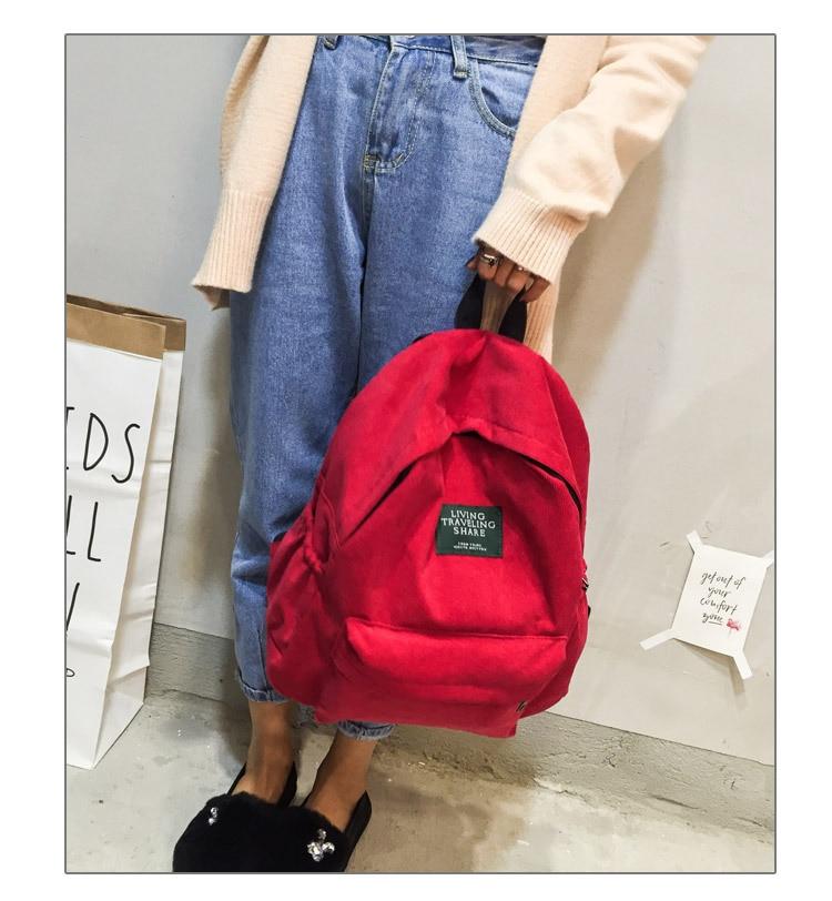 HTB11acwc56guuRjy0Fmq6y0DXXav Women Striped Corduroy Backpack Female Eco Simple Cloth Bag Large Capacity Vintage Travel Bags School Backpack for Teenage Girls