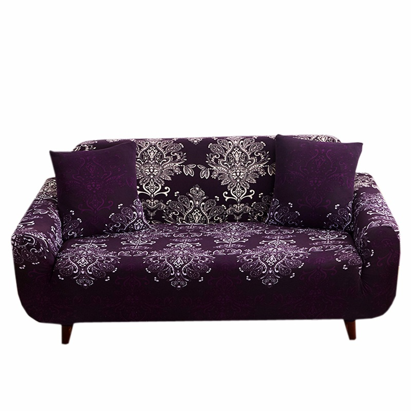 Fine Creative Sketch On Purple Sofa Cover Cartoon Tight Wrap All Gmtry Best Dining Table And Chair Ideas Images Gmtryco