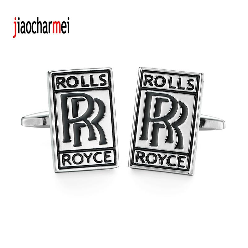 High quality mens shirts Cufflinks new fashion boutique car logo Rolls-Royce cufflinks, French shirt accessories