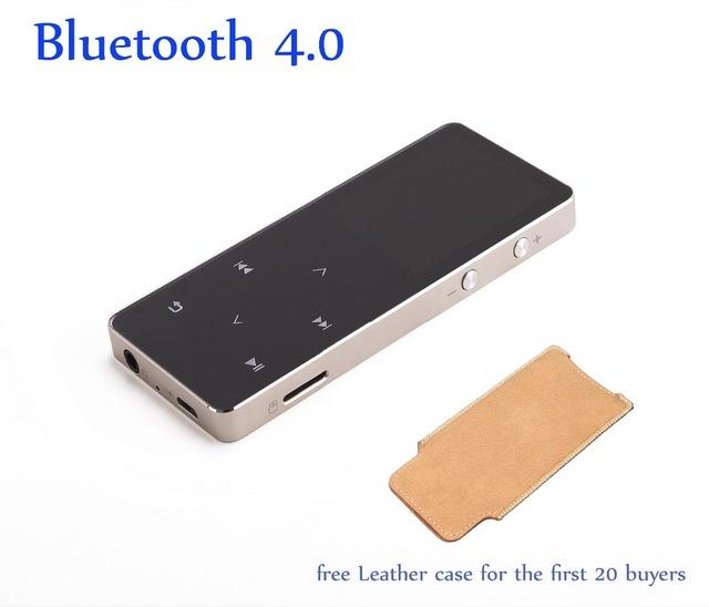 Lossless AUPHIL Deportes Reproductor de MP3 Bluetooth 4.0 Pantalla Táctil Reproductor de Música con Radio FM Grabador eBook Podómetro 100 horas de juego