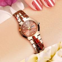 KINGNUOS Ceramic Luxury Lover Couple Watch Women Men 2019 Quartz Wrist