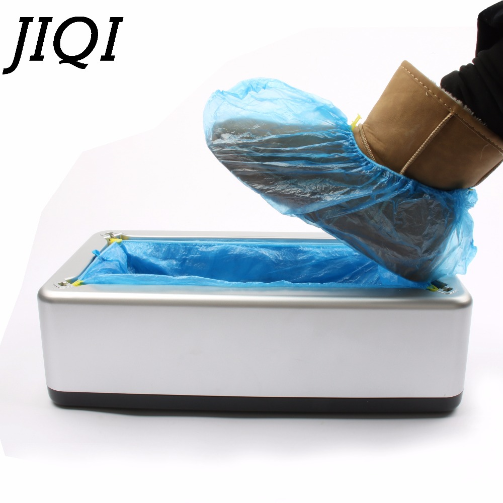 JIQI Automatic Shoe Covers Machine Home Office One-time Film Equipment Foot Set With 200pcs Shoes Cover intelligent sole shoe polisher shoe cleaning machine household automatic shoe cleaner