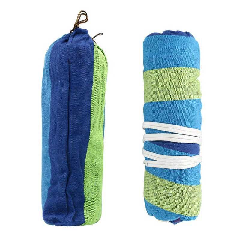 כפול ערסל 450 £ נייד נסיעות קמפינג תליית ערסל נדנדה כיסא עצלן בד ערסלים (כחול)