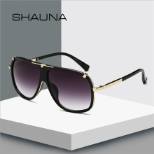 SHAUNA Retro Men Square Sunglasses Brand Designer Fashion Women Gradient Lens Glasses UV400 shauna newest contrast color frame women sunglasses brand designer mixed color gradient square glasses