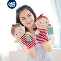 Títere de mano niños creativo muñeca de trapo de felpa muñeca figura de guantes de punto COS apoyos títere apaciguar juguetes educativos para la primera infancia