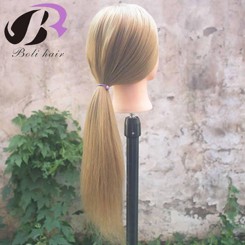 1 قطعة 100% الاصطناعية ياكي تصفيف الشعر التدريب رئيس صالون المعرضة رئيس ل أدوات تصفيف الشعر