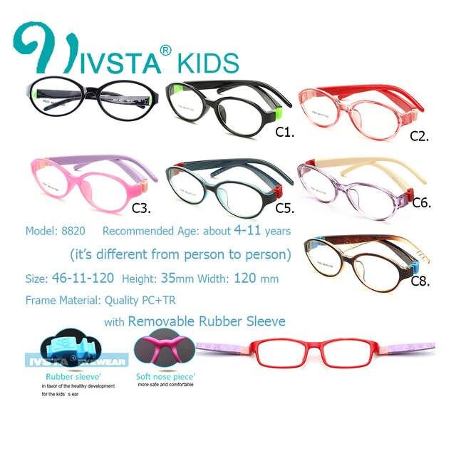 e507ba9757a placeholder IVSTA Bendable Round Light Child Glasses frame kids frames  eyewear Flexible TR rubber optical lense No