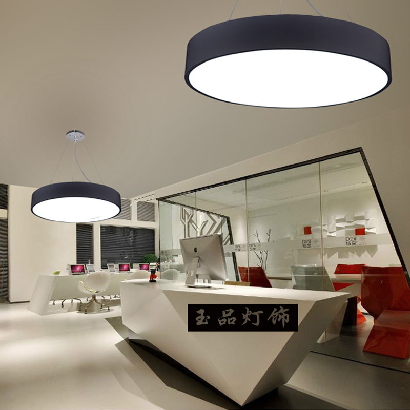 A1 Modern simple LED Pendant lamp round living room bedroom black and white lighting restaurant study lamp office Chandelier noosion modern led ceiling lamp for bedroom room black and white color with crystal plafon techo iluminacion lustre de plafond