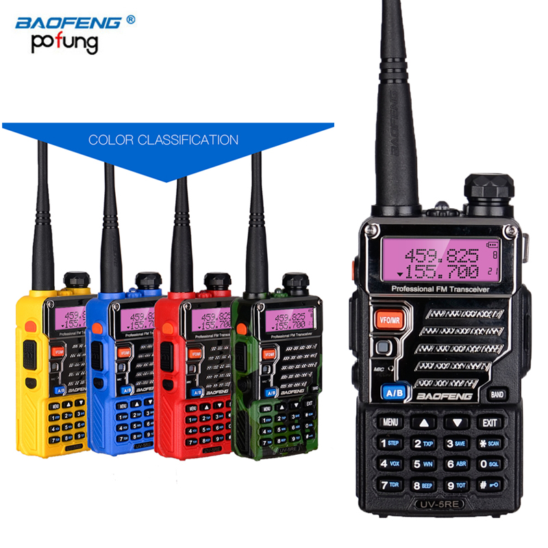 2 PCS Baofeng UV 5RE Two Way Walkie Talkie Dual Double Band CB Ham VHF UHF