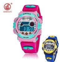 Children S Watches LED Digital Quartz Watch Fashion Kids Clock OHSEN Brand Boy And Girl Student
