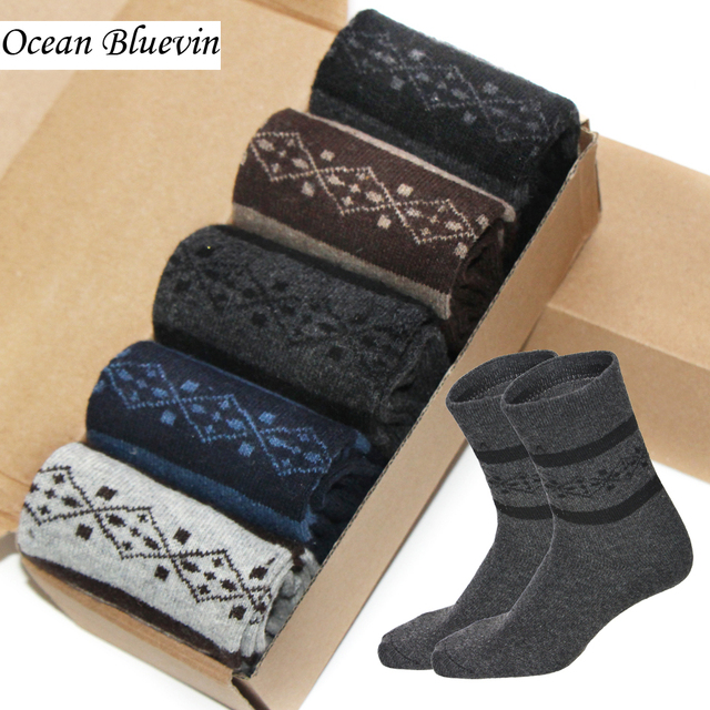 Rabbit Wool Fashion knitted Men Socks Autumn Winter Warm Thick Style ...