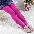 O envio gratuito de seção fina de veludo cores criança 4-8 anos de idade meninas leggings de dança
