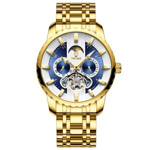 Image 2 - TEVISE Watch Automatic Tourbillon Men Watch Moon Phase Luminous Waterprof Mechanical Wristwatches Watch Tool T856A Drop Ship