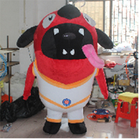 2.2m high inflatable plush dog animal / giant inflatable outdoor activity game party large decoration