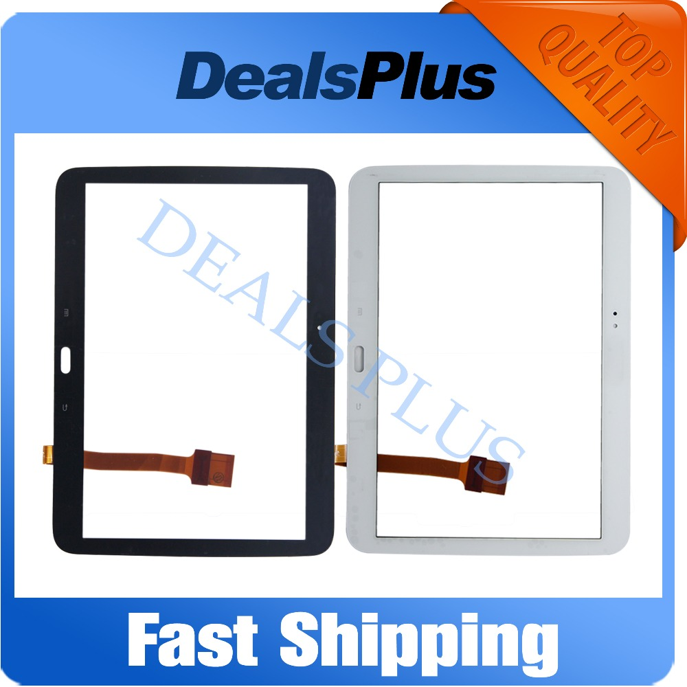 Replacement New Touch Screen Digitizer Glass For Samsung Galaxy TAB 3 GT-P5200 P5200 Black White Free Shipping new lcd digitizer with touch screen glass for samsung galaxy s5 active g870 g870a free shipping
