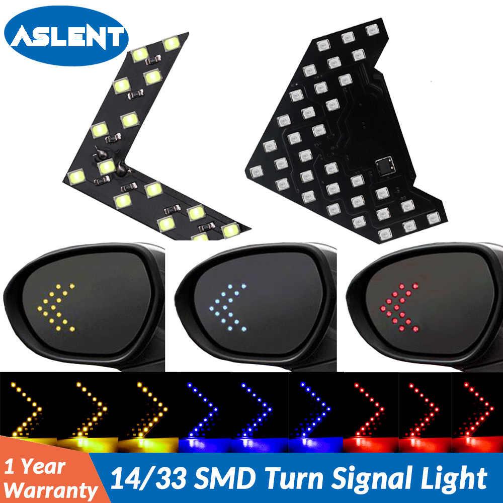 ASLENT 2 ピース/ロット 14 33 SMD LED 矢印パネル用の車のミラーインジケータターンシグナルライト車の Led バックミラーライト AJ