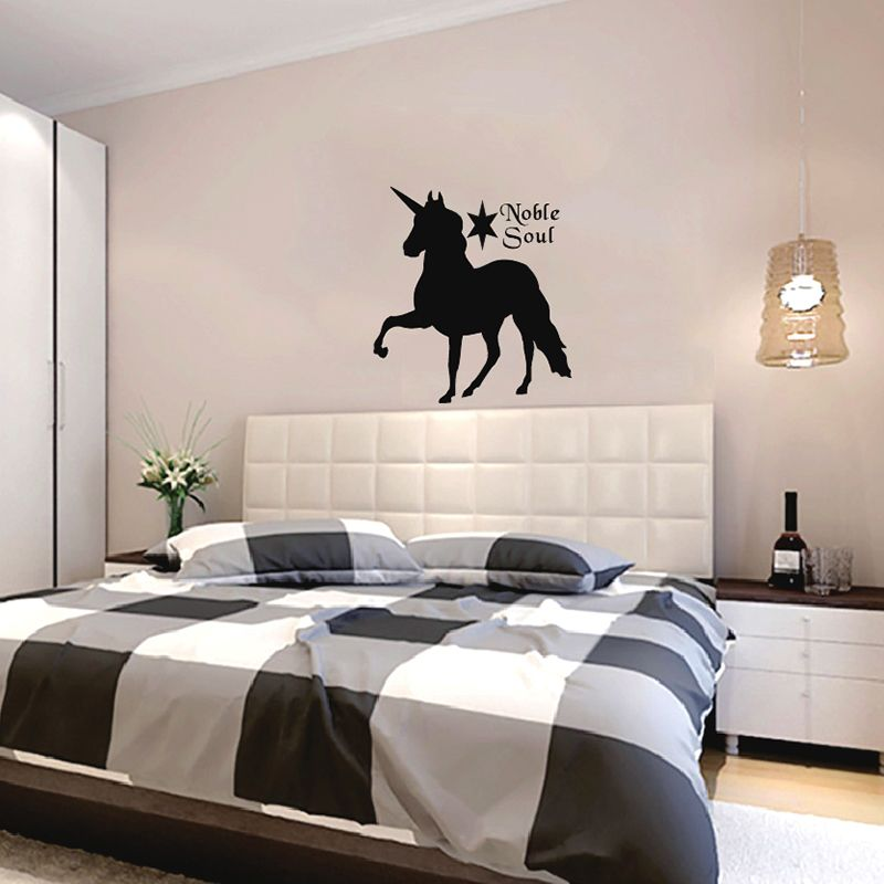 Zuczug unicorn bedroom wall stickers 55x60cm 21x23in for Unicorn bedroom decor