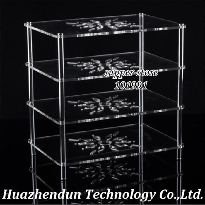 DEBROGLIE Clear Acrylic transparent Shelf Bracket for Set top Box Router fan display Storage Rack Wireless wifi Case цены онлайн