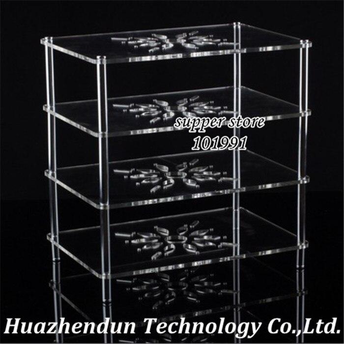 DEBROGLIE clair acrylique transparent support d'étagère pour décodeur routeur ventilateur affichage Rack de stockage sans fil wifi Case