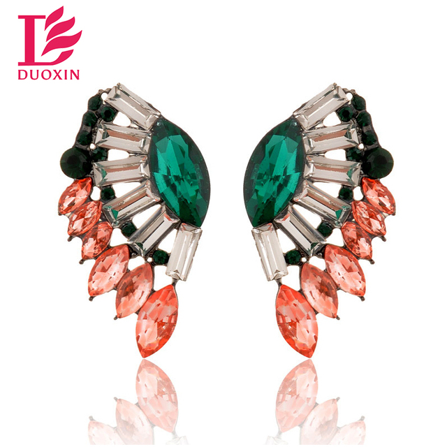 Five Different Colored Angel Wing Stud Earrings
