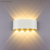 야외 조명 벽 램프 알루미늄 Ip65 베란다 조명 LED 전구 홈 조명 현대 알루미늄 베이킹 폴 리 카보 네이트