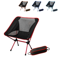 Barbecue Camping Stool Portable Super Light Folding Fishing Chairs Beach Picnic Chair with Bag Breathable Backrest Outdoor Beach