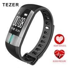 Tezer R20 ЭКГ контроля в реальном времени артериального давления сердечного ритма спортивные Смарт-фитнес часы-браслет интеллектуальные трекер