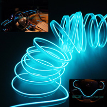 5M Auto refit interior atmosphere light Car styling interior decorative EL Cold LED Strip light Red Blue White Pink Yellow Green