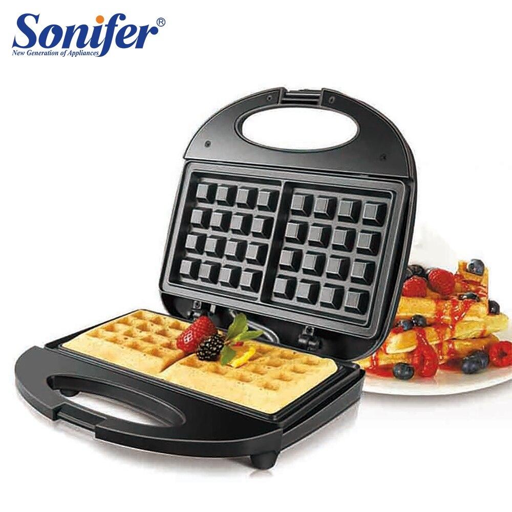 750W électrique gaufres fabricant fer Sandwich Machine bulle oeuf gâteau four petit déjeuner gaufre Machine 220V Sonifer