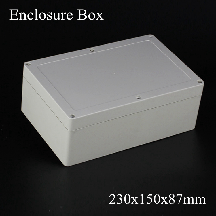 (1 piece/lot) 230*150*87mm Grey ABS Plastic IP65 Waterproof Enclosure PVC Junction Box Electronic Project Instrument Case waterproof abs plastic electronic box white case 6 size