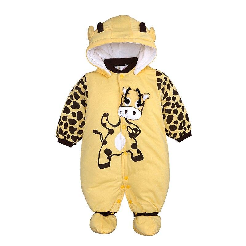 Envío Gratis invierno estilo animal engrosamiento bebé recién nacido ropa de algodón acolchado chaqueta wadded chaqueta romper