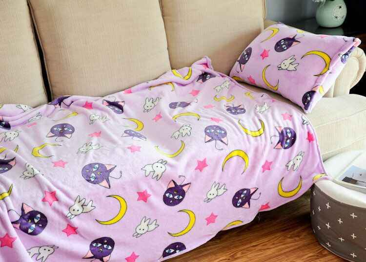Cartton Sailor Moon Luna Cat soft Coral Fleece Baby Banklet Mat sofa throw Bedroom Child Kids Gift